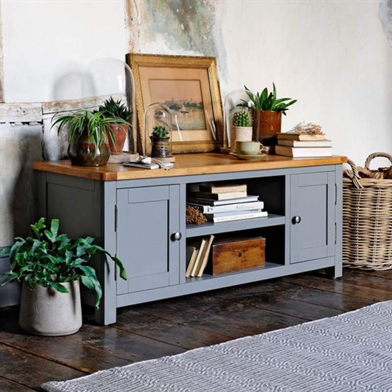 Photo of Sussex Storm Grey Widescreen Tv Unit - Up To 60
