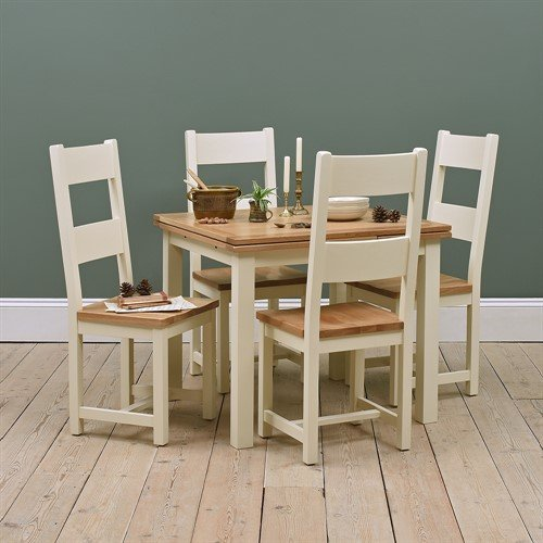 Photo of Sussex Painted 90cm-155cm Ext. Table And 4 Chairs
