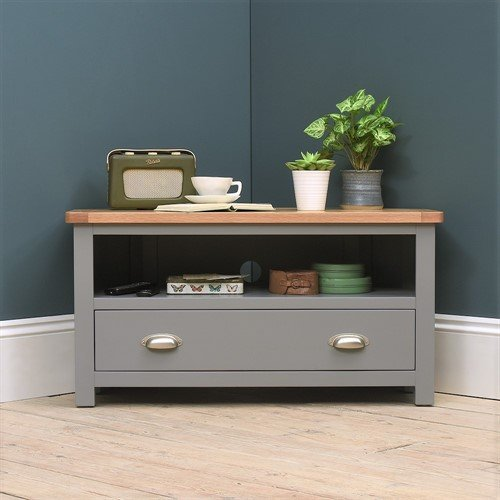 Photo of Sussex Storm Grey Corner Tv Unit - Up To 44
