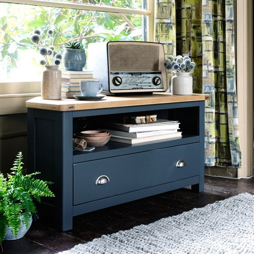 Photo of Westcote Inky Blue Corner Tv Unit - Up To 44