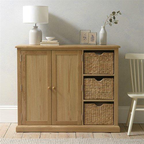 Photo of Appleby Oak Extra Large Shoe Storage Cupboard
