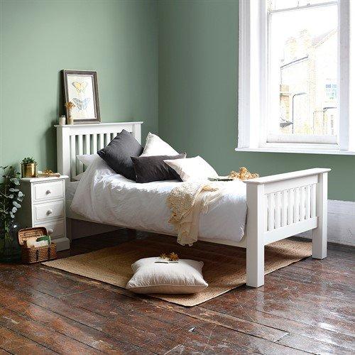 Burford Warm White 3ft Single Bed 299 00 Go Furniture Co Uk