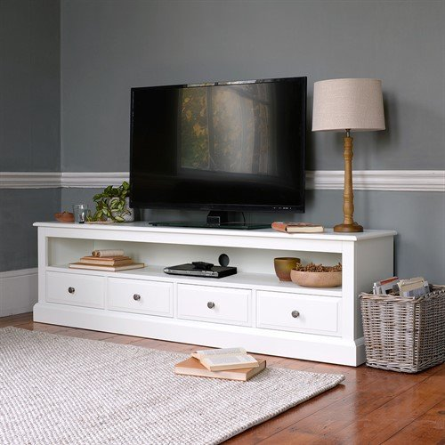 Photo of Burford Warm White Extra Large Tv Stand - Up To 80