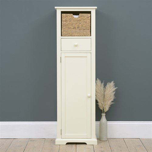 Photo of Farmhouse Painted Tall Slim Shoe Cupboard