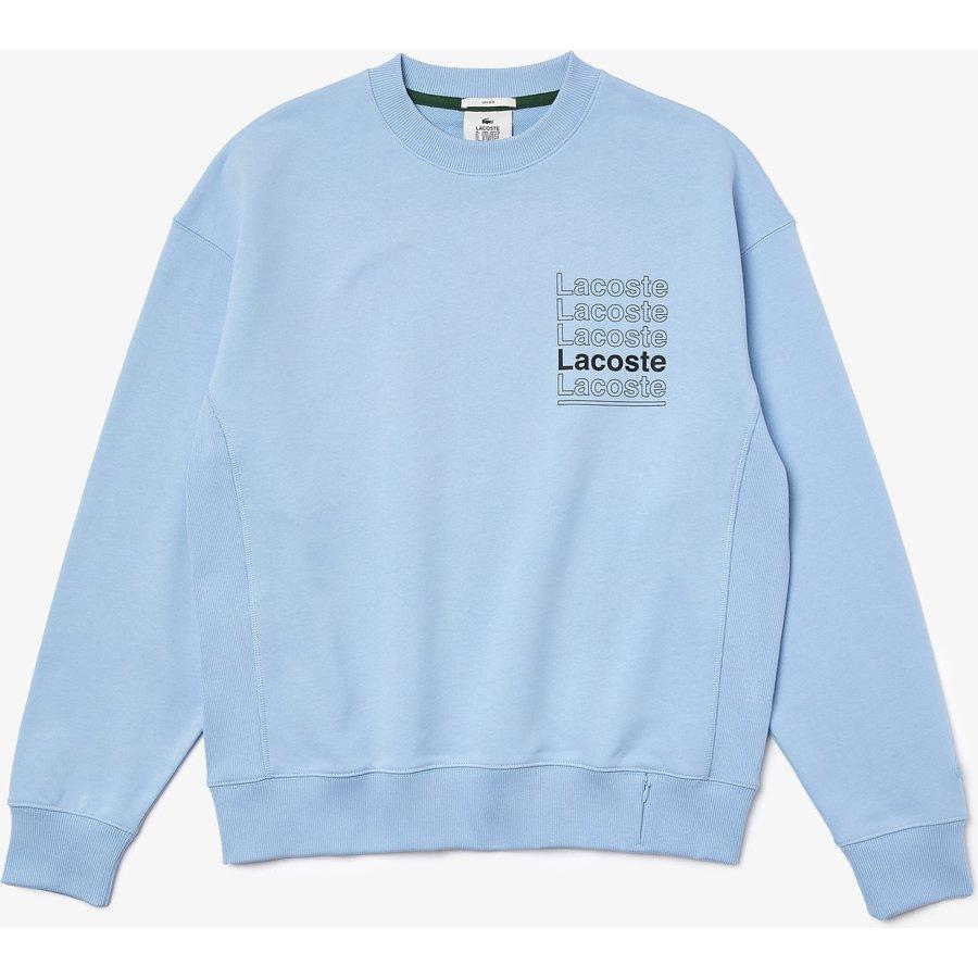 Artikel klicken und genauer betrachten! - Eine Neuauflage des klassischen Sweatshirts: der Schriftzug zeigt sich vorne und hinten im grafischen Design. Locker und komfortabel, aus Premium Baumwoll-Fleece. Urban und essentiell.   im Online Shop kaufen